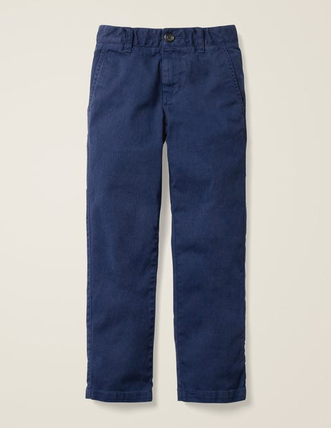 Pantalon chino stretch - Bleu marine universitaire