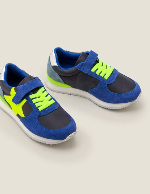 Suede Trainers - Duke Blue