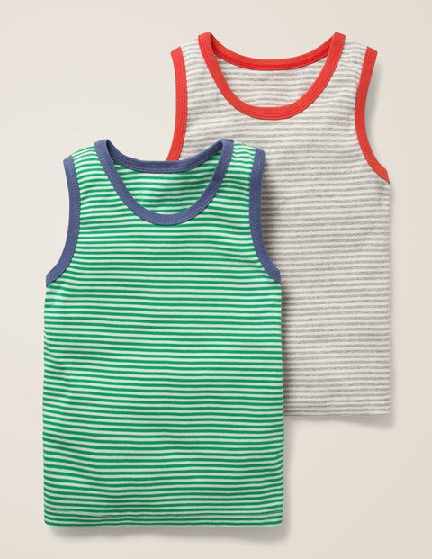 2 Pack Vests - Grey Marl/Ecru