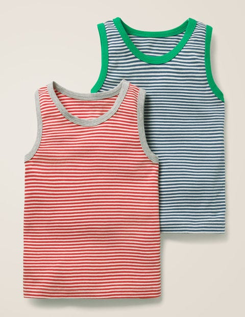 2 Pack Vests - Beam Red/Ecru