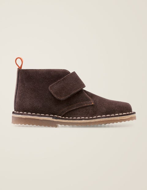 Suede Desert Boots - Chocolate