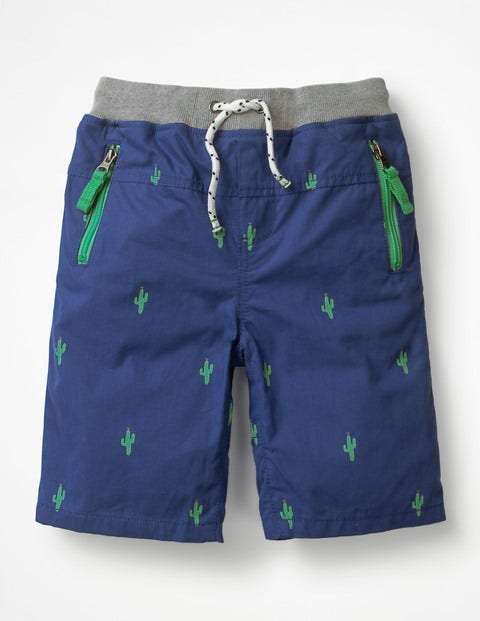 Adventure Shorts - Wave Blue Cactus