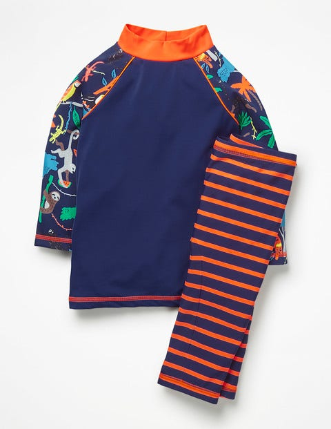 Surf Suit - College Blue Multi Tree Tops