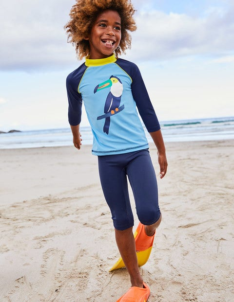 Logo Rash Guard - Cloudy Blue Toucan