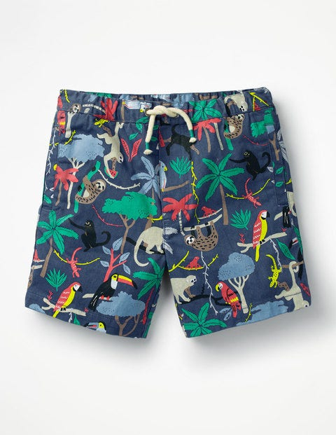 Drawstring Shorts - Multi Tree Tops