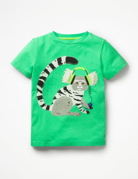 Appliqué Animal Dude T-shirt