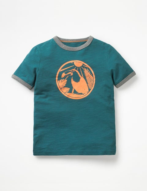 Exotic Animal T Shirt   Trek Green Save The Rainforest by Boden