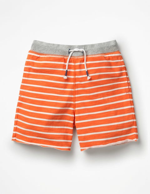 Short En Jersey Flammé - Orange étincelle/blanc
