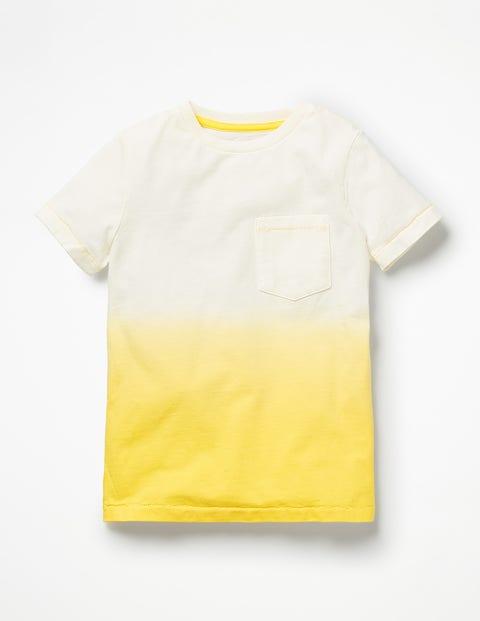 T-Shirt Mit Dip-Dye-Farbverlauf - Sonnengelb