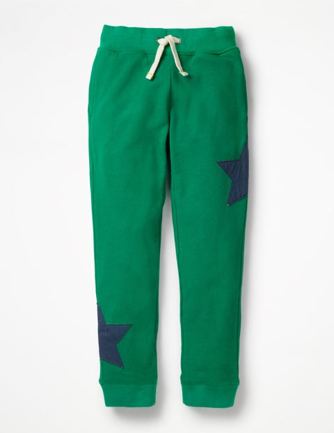 Appliqué Joggers - Watercress Green Star
