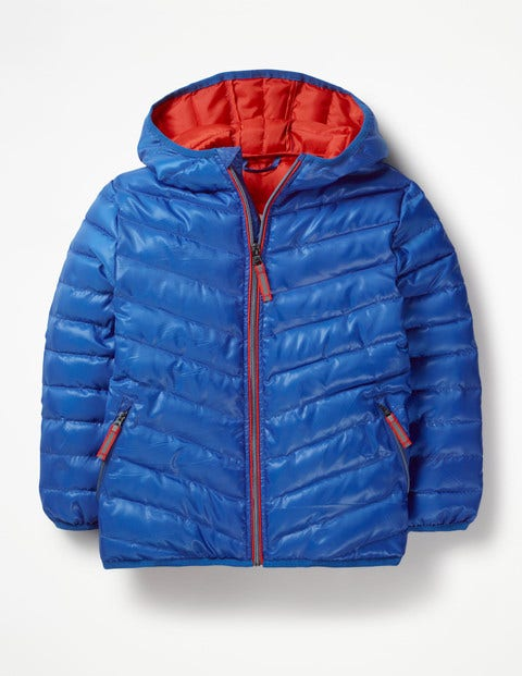 Water Resistant Puffer Jacket - Duke Blue