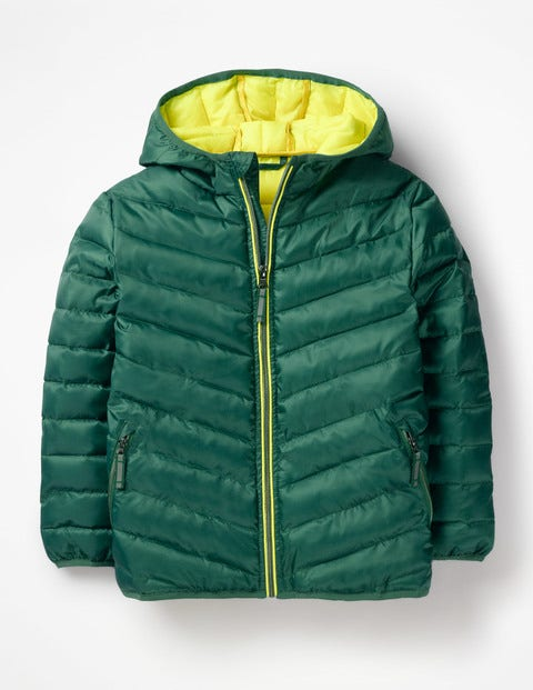 Shower Resistant Puffer Jacket - Green Kingfisher