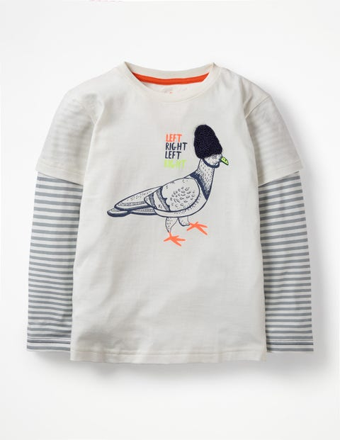 British Animal T-Shirt - Ecru Pigeon