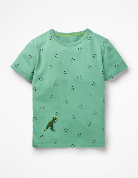 Printed T-Shirt - Patina Green Headphones
