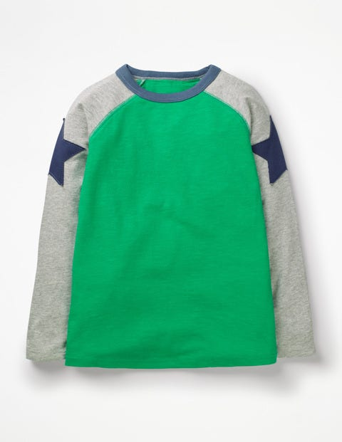 Superstar Raglan T-Shirt - Astro Green/Grey Marl Star