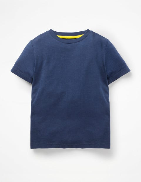 Slub Washed T-Shirt - College Blue