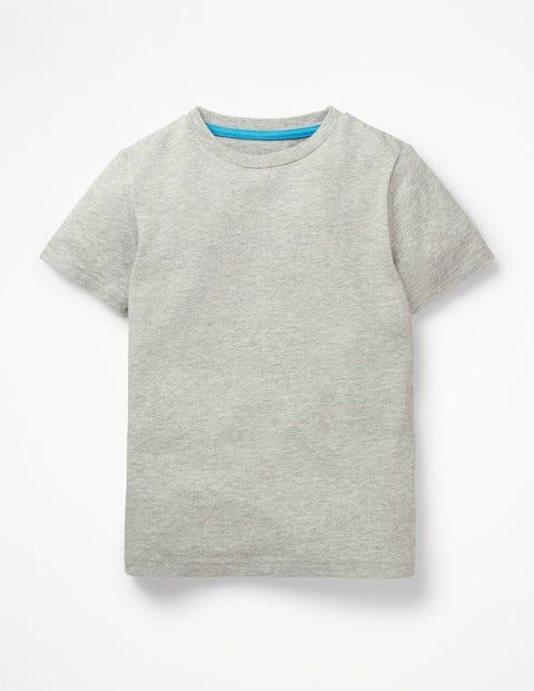 T-Shirt Délavé En Tissu Flammé - Gris chiné