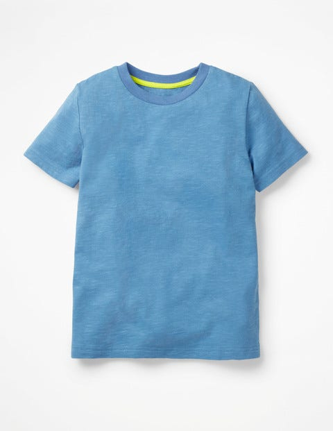 Slub Washed T-Shirt - Wild Blueberry Blue