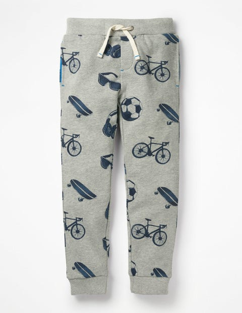 Printed Joggers - Grey Marl Day Out