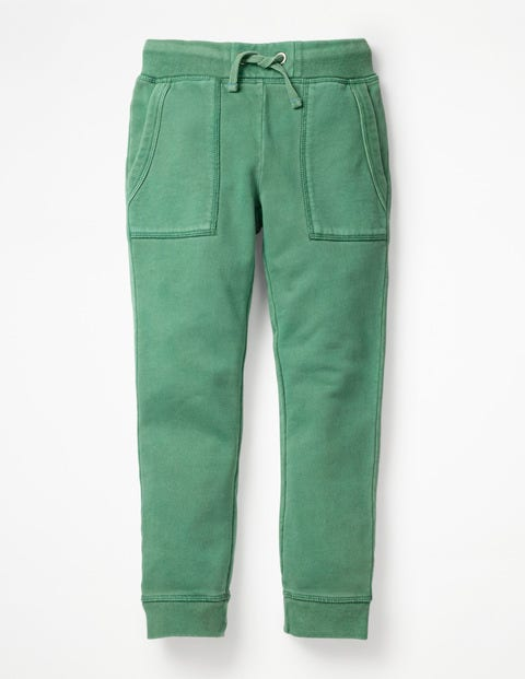 Garment-Dyed Joggers - Rosemary Green