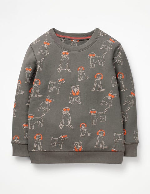 Printed Sweatshirt - Pewter Grey DJ Dogs