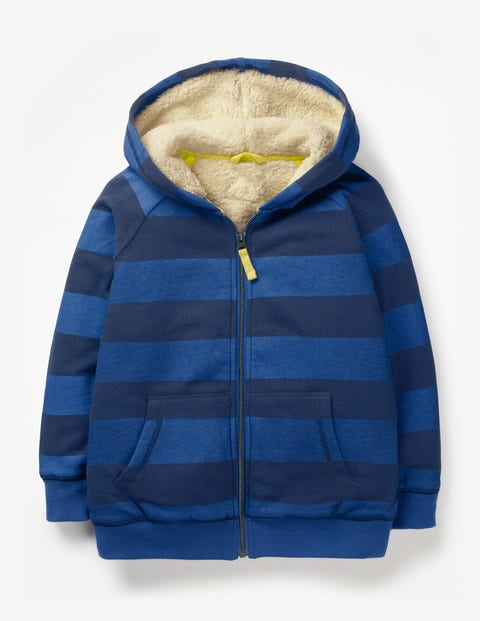 Shaggy-Lined Zip-Up Hoodie - Duke Blue/College Blue