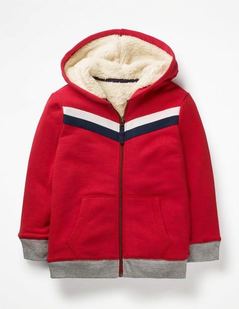 Mini Kapuzenjacke mit kuscheligem Futter Red Jungen Boden, Red rot  