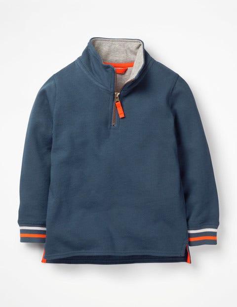 Half-Zip Sweatshirt - Lagoon Blue