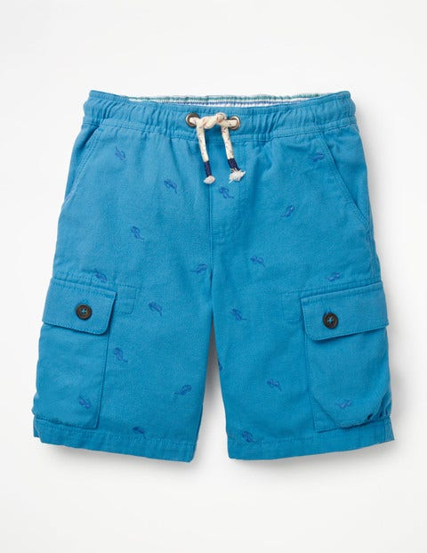 Pull-On Cargo Shorts - Caspian Blue Sunglasses