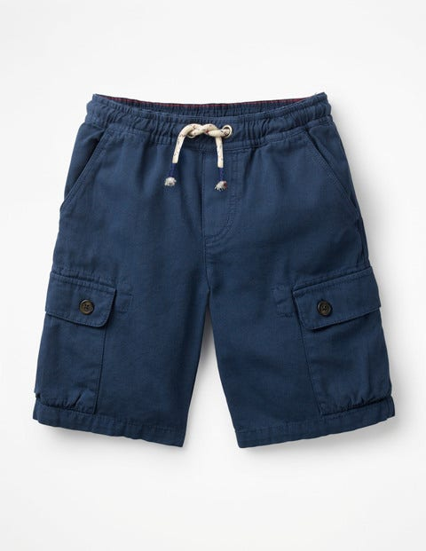Pull-On Cargo Shorts - College Blue