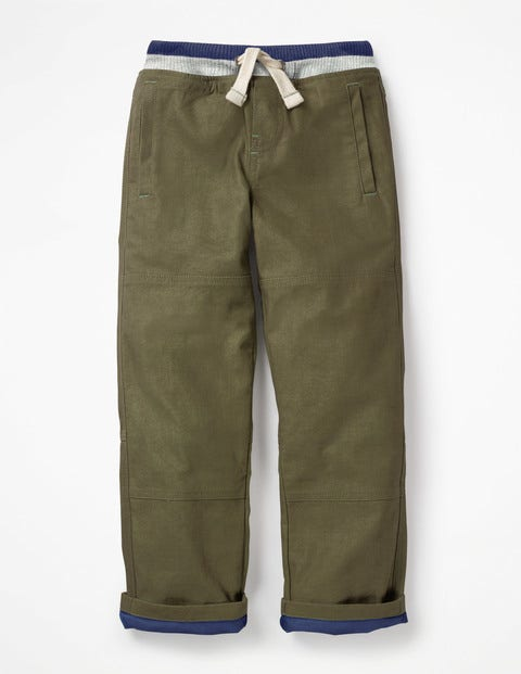 Lined Mariner Pants - Army Green