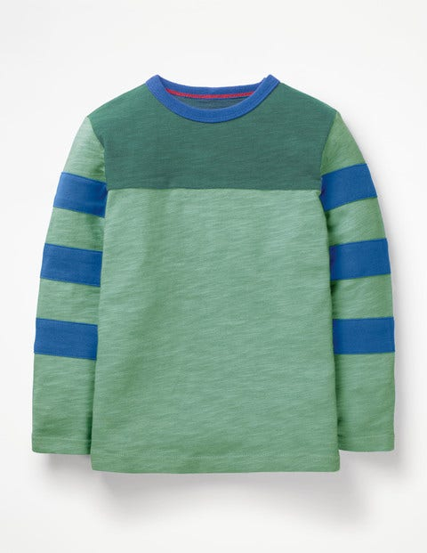 Sporty Colourblock T-Shirt - Patina Green