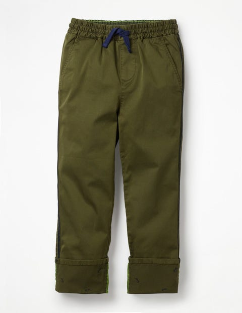 Pull-On Chino Pants - Ghillie Green