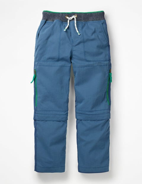 Zip-Off Techno Pants - Lagoon Blue