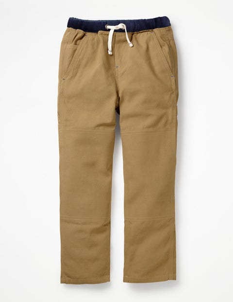 Rib Waist Carpenter Pants - Chino Brown