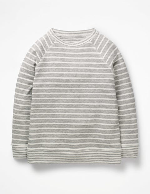 Double Layer T-Shirt - Grey Marl/Ecru