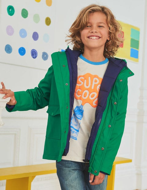 Waterproof 3-In-1 Raincoat - Watercress Green