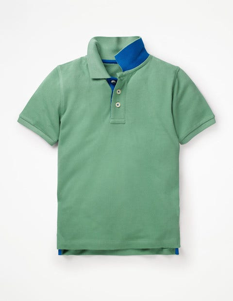 Piqué Polo Shirt - Pea Green/College Blue