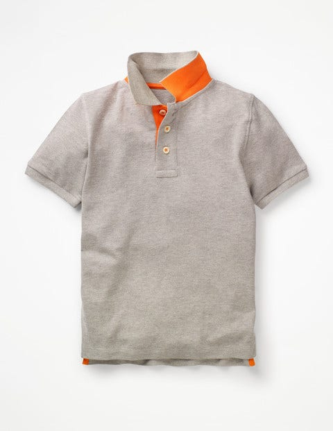 Piqué Polo Shirt - Grey Marl
