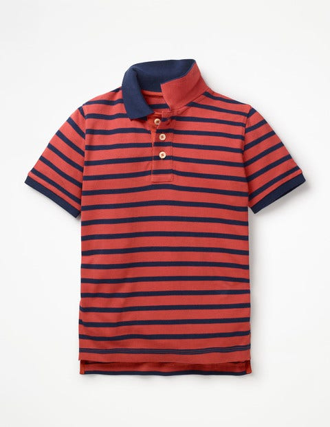 Piqué Polo Shirt - Washed Red/College Blue