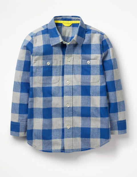 Cosy Check Shirt - Duke Blue/Grey Marl Gingham