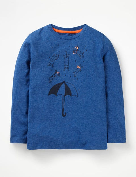 British Weather T-Shirt - Blueberry Marl Cats & Dogs