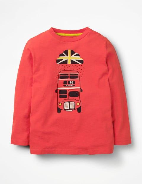 British Weather T-Shirt - Beam Red Bus