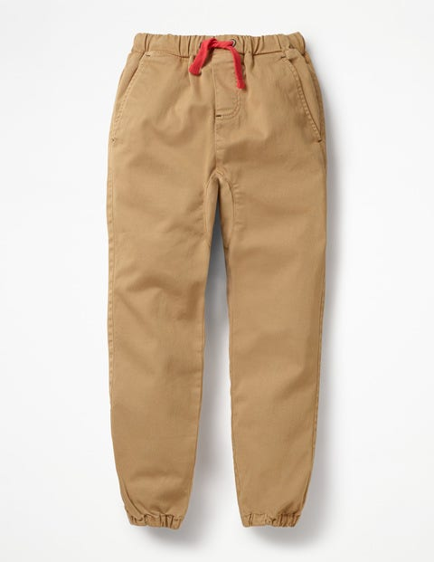Garment-Dyed Slouch Pants - Chino Brown