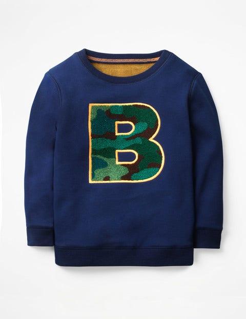Cosy Textured Sweatshirt - College Blue Bouclé B