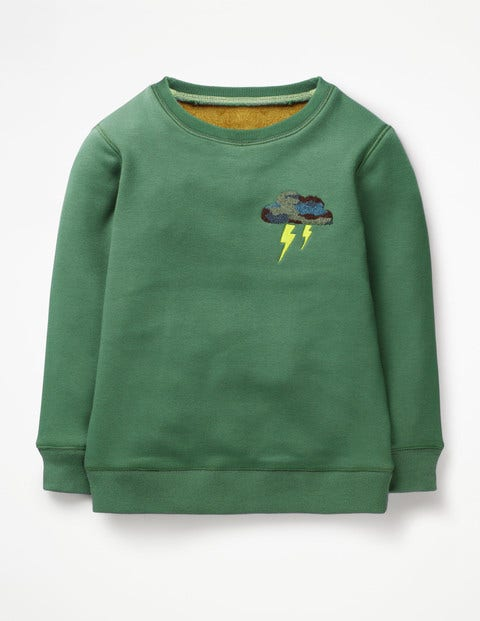 Cosy Textured Sweatshirt - Rosemary Green Cloud