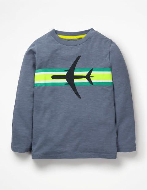 Sporty Stripe T-Shirt - Violet Grey Plane