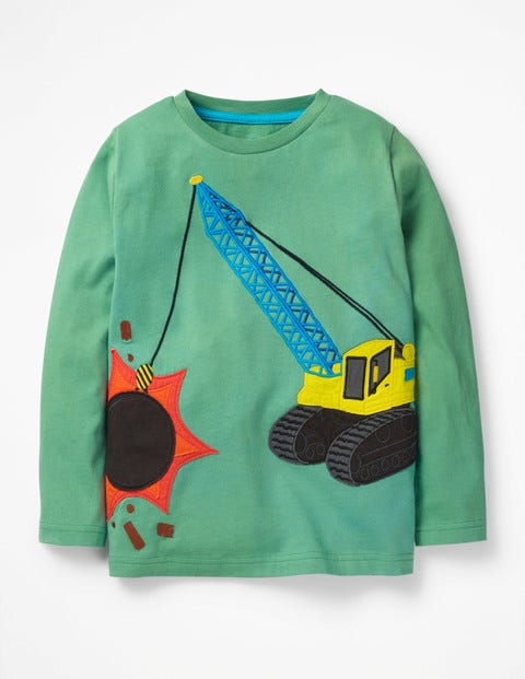Vehicle Appliqué T-Shirt - Patina Green Wrecking Ball