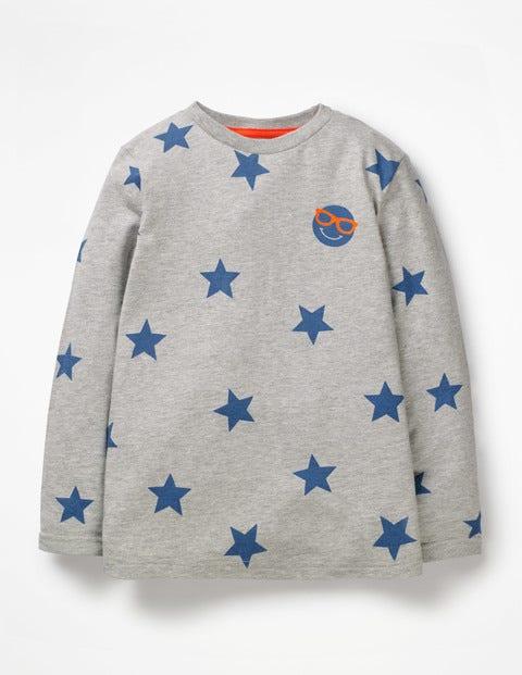 Emoji T-Shirt - Grey Marl Emoji Star