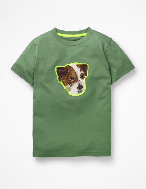 Pop Superstitch T-Shirt - Rosemary Green Sprout